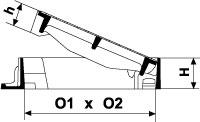 Wpust AXAM z żeliwa sferoidalnego