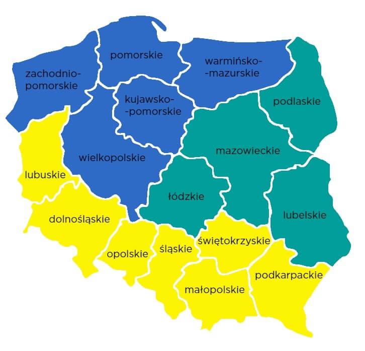 Podział regionalny Saint-Gobain PAM