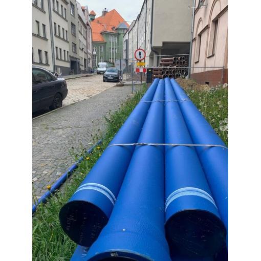 System rur i kształtek do wody BLUTOP z żeliwa sferoidalnego – Wałbrzych, ul. Staszica