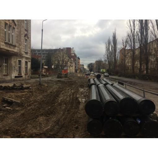 System rur i kształtek do wody TT PE z żeliwa sferoidalnego – Wrocław, ul. Hubska