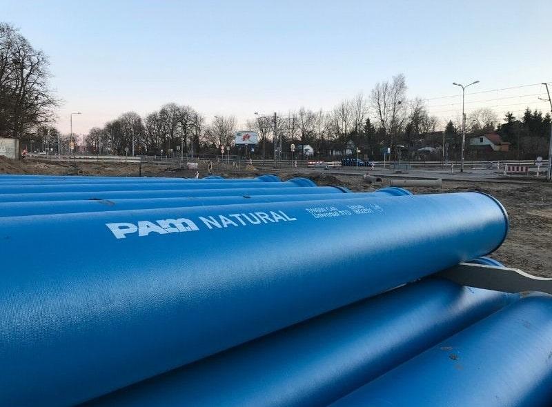 System rur i kształtek do wody NATURAL z żeliwa sferoidalnego – Szczecin, ul. Arkońska