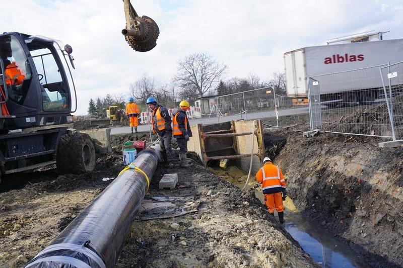 System rur i kształtek do wody TT PE DIREXIONAL z żeliwa sferoidalnego – Przewiert pod ulicą Rybnicką w Gliwicach