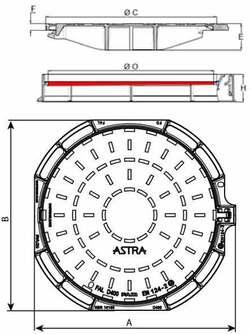 Właz ASTRA z żeliwa sferoidalnego Saint-Gobain PAM