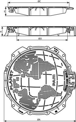 Właz PLANET z żeliwa sferoidalnego Saint-Gobain PAM